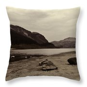 Shore Of A Loch In The Scottish Highlands Throw Pillow