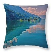 Shore Reflection Throw Pillow