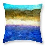 Shoreline Abstract Throw Pillow