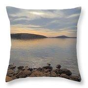 Shoreline At King's Mountain Point Throw Pillow