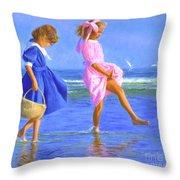 Shoreline Skippers Throw Pillow