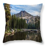 Shoreline View Of Anthony Lake Throw Pillow