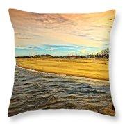Shores Of Lake Michigan Throw Pillow