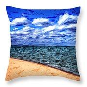 Shores Of Lake Superior Throw Pillow