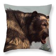 Short Faced Bear Throw Pillow by Daniel Eskridge