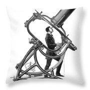 Short-focus Telescope, 1881 Throw Pillow