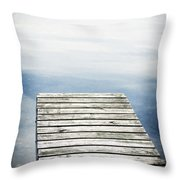 Short Pier Throw Pillow