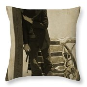 Shot In The Arm Throw Pillow