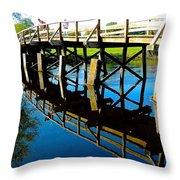 North Bridge On The Concord Throw Pillow