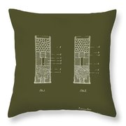 Shotgun Cartridge Patent Throw Pillow