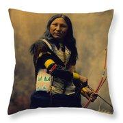 Shout At Oglala Sioux  Throw Pillow