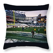 Shoveling Before The Game Throw Pillow