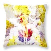 Show Girl Hibiscus Throw Pillow