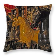 Showcase Of Royal Horses Throw Pillow