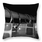 Shower Curtin Rings.... Throw Pillow