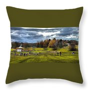 Showground Steam Carousel Throw Pillow