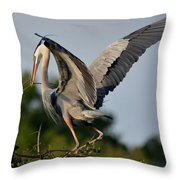 Showing Off The Blue Throw Pillow