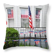 Showing The Flag Usa Throw Pillow