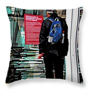 Shown The Red Card Throw Pillow