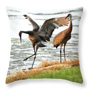 Showoff Throw Pillow by Carol Groenen