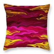 Showpiece Waves Throw Pillow