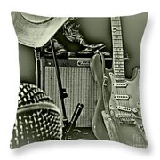 Show's Over - B W Throw Pillow