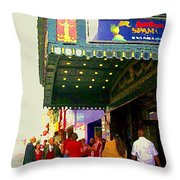 Showtime Toronto's Broadway Monty Python Spamalot Theatre District The Plays The Thing City Scenes Throw Pillow