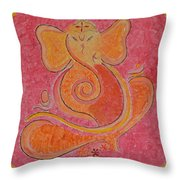 Shree Ganesh Throw Pillow