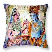 Shree Sita Ram Throw Pillow