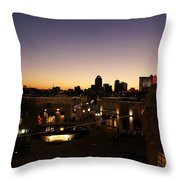 Shreveport Skyline Throw Pillow