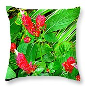 Shrimp Bloom Throw Pillow