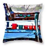 Shrimp Boat Buckets Throw Pillow