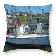 Shrimp Boat - Southern Catch Throw Pillow