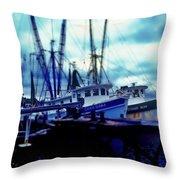 Shrimp Boats Throw Pillow