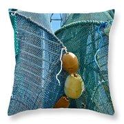 Shrimp Net Close Up Throw Pillow