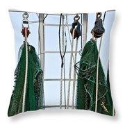 Shrimp Nets Throw Pillow