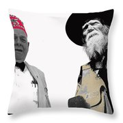 Shriner And Tombstone Slim Tombstone Arizona  Throw Pillow