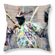 Shropshire Bedlams Border Morris Throw Pillow