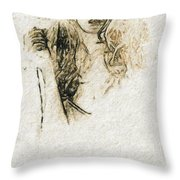 Shroud Of A Lady Throw Pillow