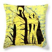 Shroud Of Jesus Throw Pillow