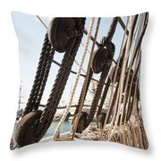 Shrouds And Lines Throw Pillow