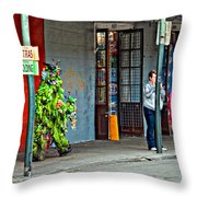 Shrubman On The Move Throw Pillow