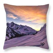 Shuksan Morning Skies Throw Pillow