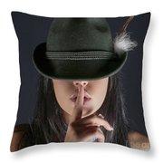 Shush  Throw Pillow