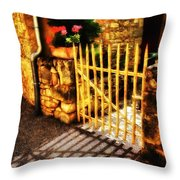Shut Throw Pillow