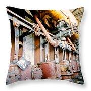 Shutdown Old Coking Plant Throw Pillow