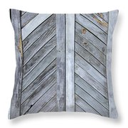Weathered Wooden Shutters Throw Pillow