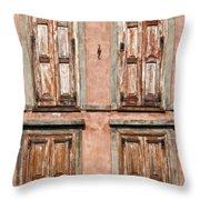 Four Wooden Shutters Throw Pillow