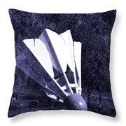 Shuttlecock Blues Throw Pillow