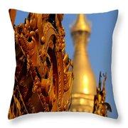 Shwe Dagon Pagoda Throw Pillow
